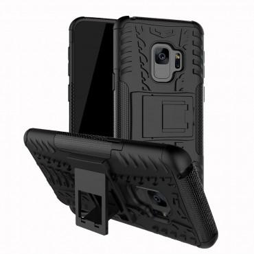 """Hibrid TPU géles """"Tough"""" védőtok Samsung Galaxy S9 készülékekhez – fekete"""