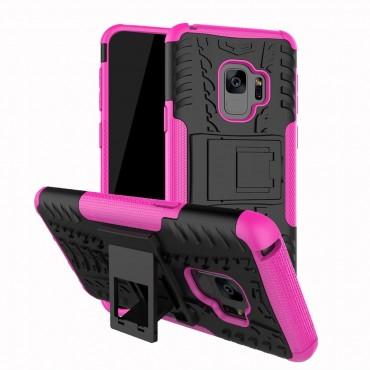 """Hibrid TPU géles """"Tough"""" védőtok Samsung Galaxy S9 készülékekhez – rózsaszín"""