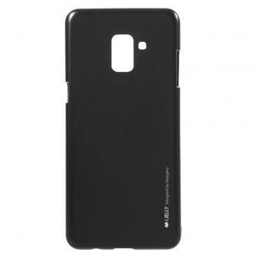 Goospery iJelly Case TPU géles védőtok Samsung Galaxy A8 2018 készülékekhez – fekete