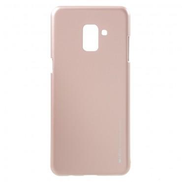 TPU géles Goospery iJelly Case védőtok Samsung Galaxy A8 2018 készülékekhez – rózsaszín