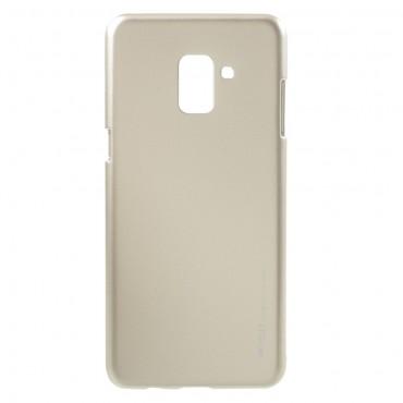 TPU géles Goospery iJelly Case védőtok Samsung Galaxy A8 2018 készülékekhez – aranyszínű