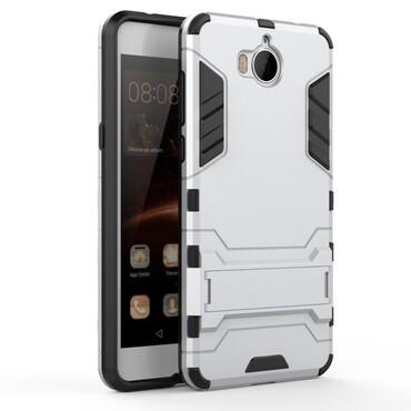 """Strapabíró """"Impact X"""" védőtok Huawei Y5 2017 / Y6 2017 készülékekhez – ezüstszínű"""