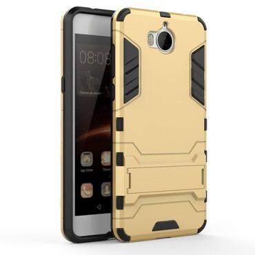 """Strapabíró """"Impact X"""" védőtok Huawei Y5 2017 / Y6 2017 készülékekhez – aranyszínű"""