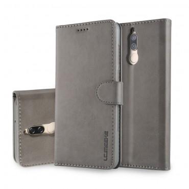 """Elegáns """"Wallet"""" műbőrtárca Huawei Mate 10 Lite készülékekhez – szürke"""