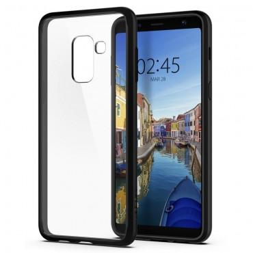 """Spigen """"Ultra Hybrid"""" védőtok Samsung Galaxy A8 2018 készülékhez – matte black"""