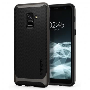 """Tok Spigen """"Neo Hybrid"""" Samsung Galaxy A8 2018 készülékekhez - gunmetal"""