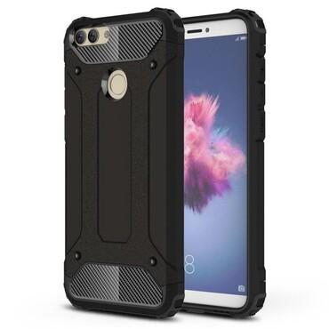 """Strapabíró """"Rock"""" védőtok Huawei P Smart készülékekhez – fekete"""