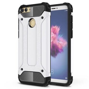 """Strapabíró """"Rock"""" védőtok Huawei P Smart készülékekhez – fehér"""