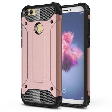"""Strapabíró """"Rock"""" védőtok Huawei P Smart készülékekhez – rózsaszín"""