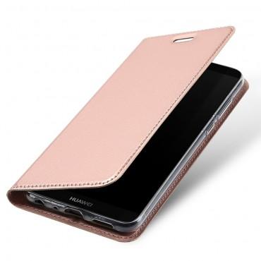 """Divatos """"Skin"""" műbőr tárca Huawei P Smart készülékekhez – rózsaszín"""