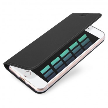 """Divatos """"Skin"""" műbőr tárca iPhone 8 / iPhone 7 készülékekhez – szürke"""