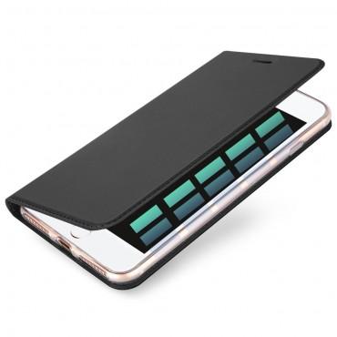 """Divatos """"Skin"""" műbőr tárca iPhone 8 Plus / iPhone 7 Plus készülékekhez – szürke"""