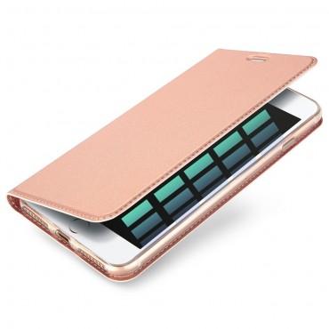 """Divatos """"Skin"""" műbőr tárca iPhone 8 Plus / iPhone 7 Plus készülékekhez – rózsaszín"""