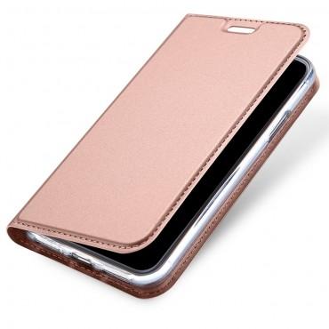 """Divatos """"Skin"""" műbőr tárca iPhone X / XS készülékekhez – rózsaszín"""