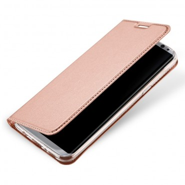 """Divatos """"Skin"""" műbőr tárca Samsung Galaxy S8 készülékekhez – rózsaszín"""