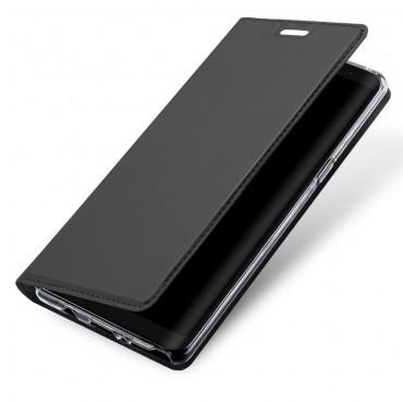"""Divatos """"Skin"""" műbőr tárca Samsung Galaxy Note 8 készülékekhez – szürke"""