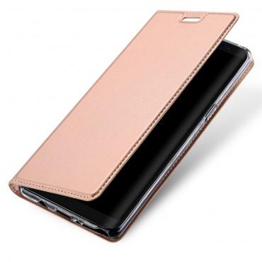 """Divatos """"Skin"""" műbőr tárca Samsung Galaxy Note 8 készülékekhez – rózsaszín"""