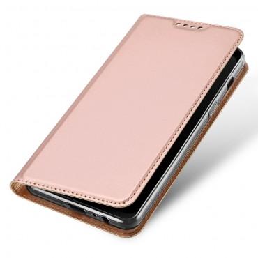 """Divatos """"Skin"""" műbőr tárca Samsung Galaxy A8 2018 készülékekhez – rózsaszín"""
