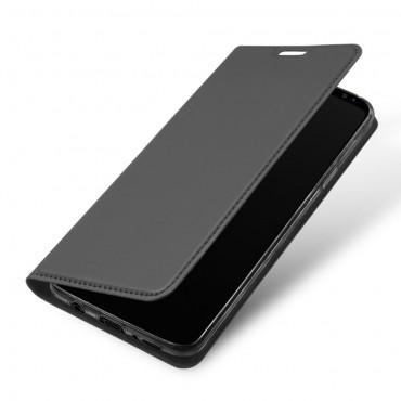 """Divatos """"Skin"""" műbőr tárca Samsung Galaxy S9 készülékekhez – szürke"""
