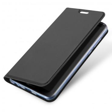 """Divatos """"Skin"""" műbőr tárca Huawei Mate 10 Lite készülékekhez – szürke"""