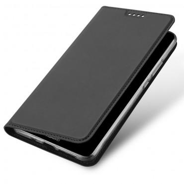 """Divatos """"Skin"""" műbőr tárca Huawei Mate 10 Pro készülékekhez – szürke"""