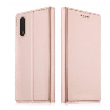 """Divatos """"Skin"""" műbőr tárca Huawei P20 készülékekhez – rózsaszín"""