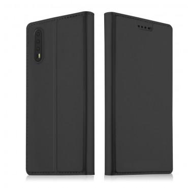 """Divatos """"Skin"""" műbőr tárca Huawei P20 Pro készülékekhez – fekete"""