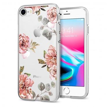"""Spigen """"Liquid Crystal"""" védőtok iPhone 8 / iPhone 7 készülékekhez - aquarelle rose"""