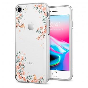 """Spigen """"Liquid Crystal"""" védőtok iPhone 8 / iPhone 7 készülékekhez - blossom nature"""