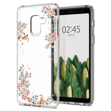 """Spigen """"Liquid Crystal"""" védőtok Samsung Galaxy A8 2018 készülékekhez - blossom nature"""