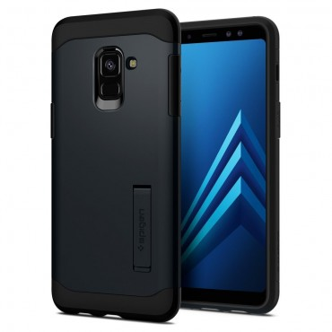 """Spigen """"Slim Armor"""" védőtok Samsung Galaxy A8 2018 készülékekhez – metal slate"""