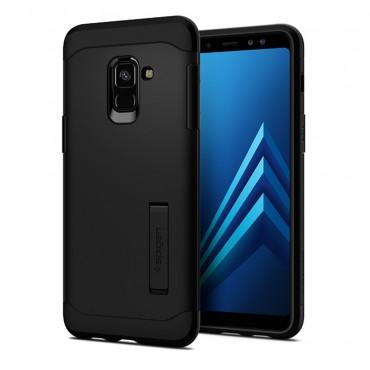 """Tok Spigen """"Slim Armor"""" Samsung Galaxy A8 2018 készülékekhez - black"""