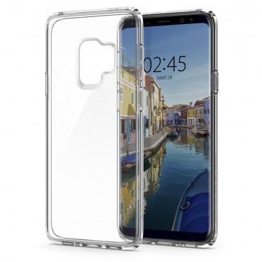 """Spigen """"Ultra Hybrid"""" védőtok Samsung Galaxy S9 készülékhez – crystal clear"""