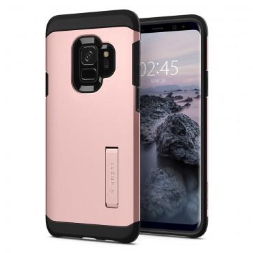 """Tok Spigen """"Tough Armor"""" Samsung Galaxy S9 készülékekhez - rose gold"""
