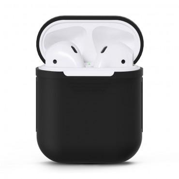 TPU gél tok az AirPods fülhallgatóhoz - fekete