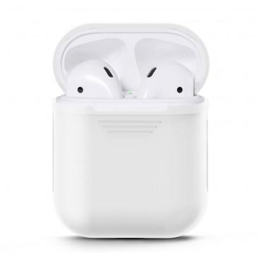 TPU gél tok az AirPods fülhallgatóhoz - fehér