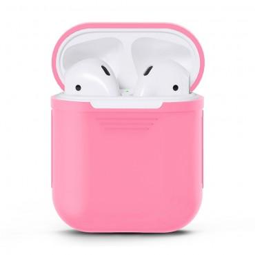 TPU gél tok az AirPods fülhallgatóhoz - rózsaszín