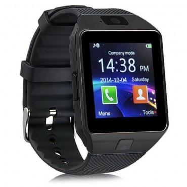 DZ09 Bluetooth és NFC okosóra Android és iOS készülékekhez - fekete