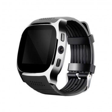 T8 Bluetooth és NFC okosóra Android készülékekhez – fekete