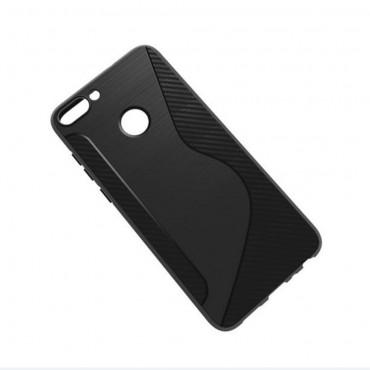"""TPU gél tok """"S-Line"""" Huawei P Smart készülékekhez - fekete"""