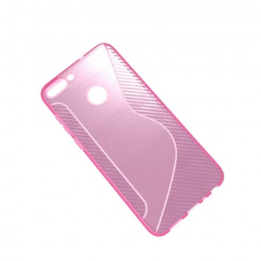 """TPU gél tok """"S-Line"""" Huawei P Smart készülékekhez - rózsaszín"""