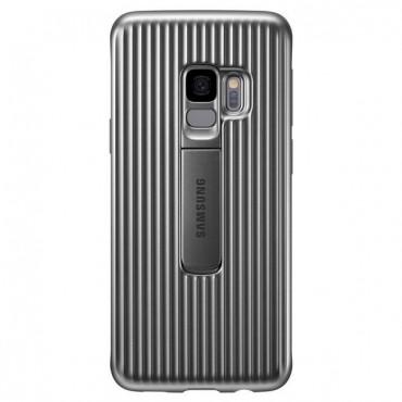 "Eredeti Samsung ""Protective Standing Cover"" védőtok Samsung Galaxy S9 - ezüstszínű"