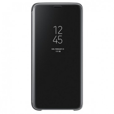 "Eredeti Samsung ""Clear View"" védőtok Samsung Galaxy S9 - fekete"