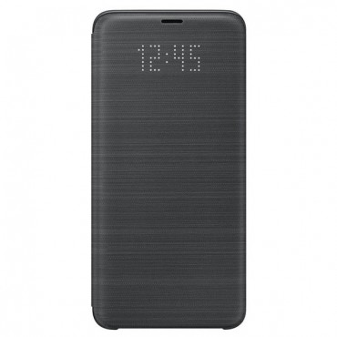 """Eredeti nyitható tok Samsung """"LED View"""" Samsung Galaxy S9 Plus készülékekhez - fekete"""