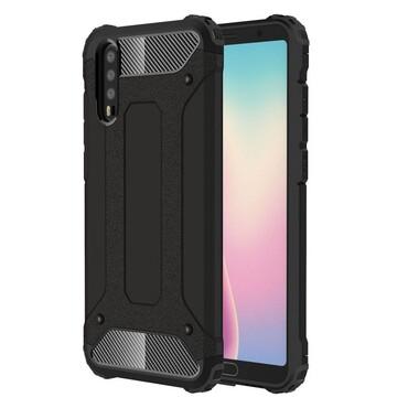 """Strapabíró """"Rock"""" védőtok Huawei P20 készülékekhez – fekete"""