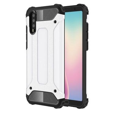 """Strapabíró """"Rock"""" védőtok Huawei P20 készülékekhez – fehér"""