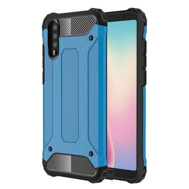 """Strapabíró """"Rock"""" védőtok Huawei P20 készülékekhez – kék"""