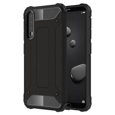 """Strapabíró """"Rock"""" védőtok Huawei P20 Pro készülékekhez – fekete"""