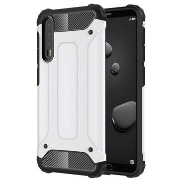 """Strapabíró """"Rock"""" védőtok Huawei P20 Pro készülékekhez – fehér"""