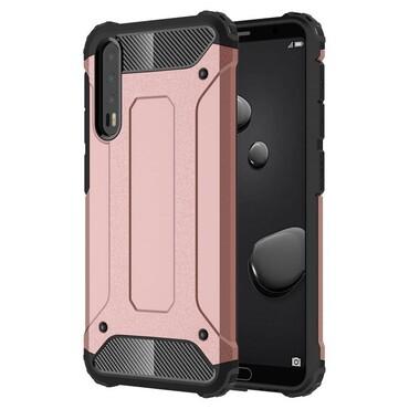"""Strapabíró """"Rock"""" védőtok Huawei P20 Pro készülékekhez – rózsaszín"""